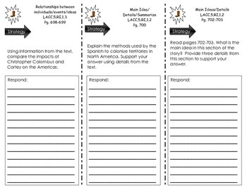 """Journeys Common Core - Trifold for """"Vaqueros"""" by George Ancona- Lesson 5.23"""