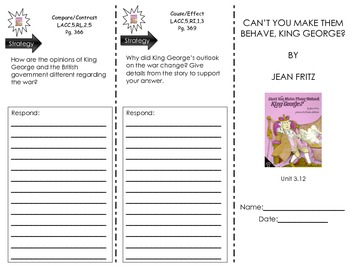 Journeys Common Core - UNIT 3 TRIFOLDS - ALL STORIES IN UNIT 3 - SAVE $$$$$$$$