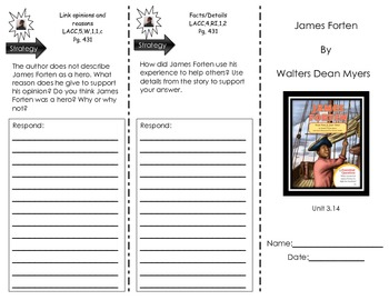 Journeys Common Core Unit 3.14 - James Forten by Walters Dean Myers
