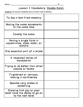 Journeys Common Core: Vocabulary Sorts for Unit 1 {Grade 5}
