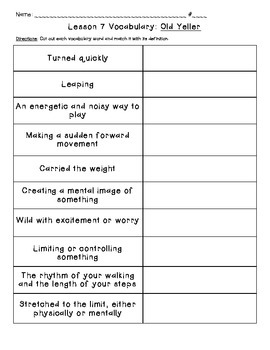 Journeys Common Core: Vocabulary Sorts for Unit 2 {Grade 5}