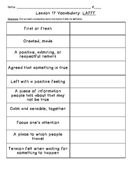 Journeys Common Core: Vocabulary Sorts for Unit 4 {Grade 5}