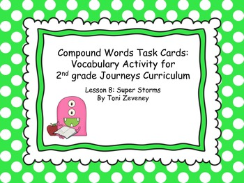 Compound Word Task Cards for Journeys Grade 2