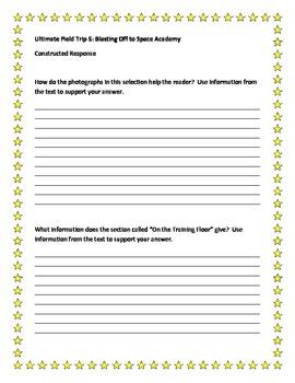 Harcourt Journeys Constructed Response Items Grade 5