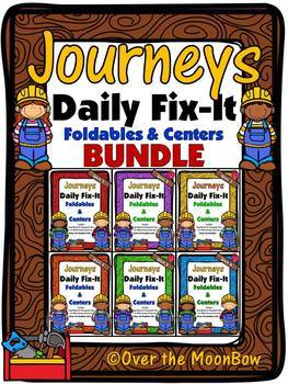 Journeys Daily Fix-It Foldables & Centers Bundle | 1st Grade | Units 1-6