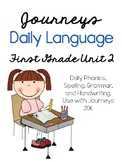 Journeys Daily Language 1st Grade Unit 2