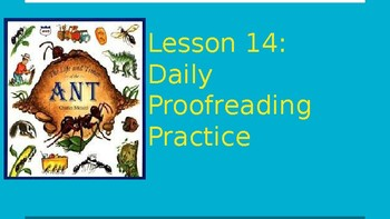 Journeys Daily Proofreading Practice  Lesson 14 4th Grade