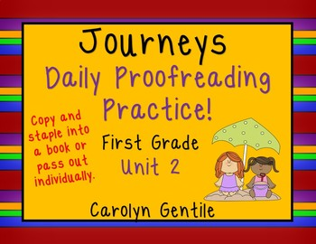 Journeys Daily Proofreading Practice Unit  2