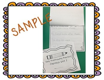 Journeys Daily Proofreading Practice Unit 4 First Grade