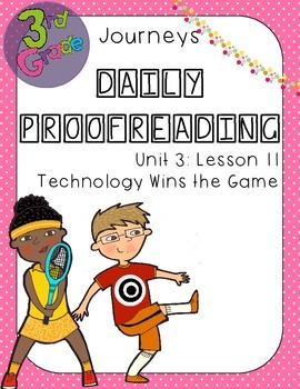 Journeys Daily Proofreading Third Grade Lesson 11