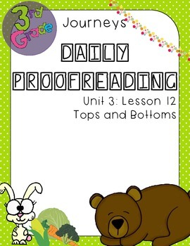 Journeys Daily Proofreading Third Grade Lesson 12