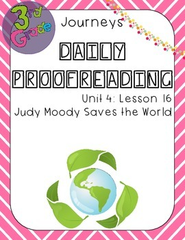 Journeys Daily Proofreading Third Grade Lesson 16