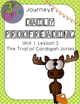 Journeys Daily Proofreading Third Grade Lesson 2