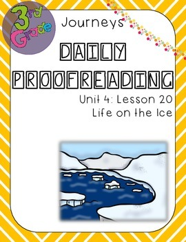 Journeys Daily Proofreading Third Grade Lesson 20