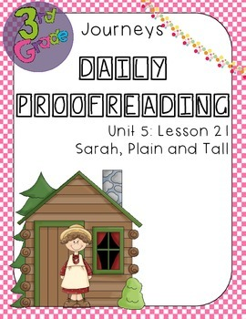Journeys Daily Proofreading Third Grade Lesson 21