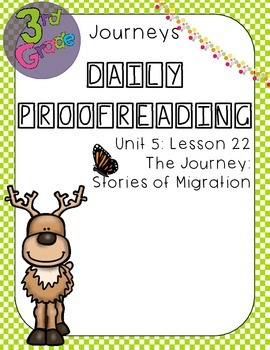 Journeys Daily Proofreading Third Grade Lesson 22