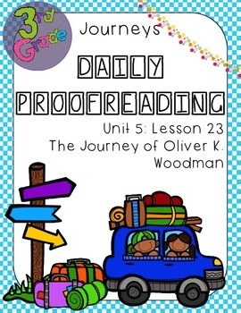 Journeys Daily Proofreading Third Grade Lesson 23
