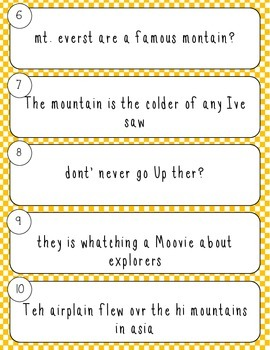 Journeys Daily Proofreading Third Grade Lesson 25