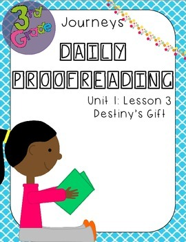 Journeys Daily Proofreading Third Grade Lesson 3