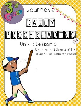 Journeys Daily Proofreading Third Grade Lesson 5