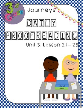 Journeys Daily Proofreading Third Grade Unit 5