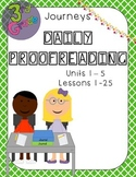 Journeys Daily Proofreading Third Grade Units 1 - 5