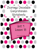 Journeys Decodable Comprehension Pages Lesson 18