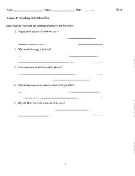 Journeys Decodable Reader Quizzes Unit 3 (Second Grade)