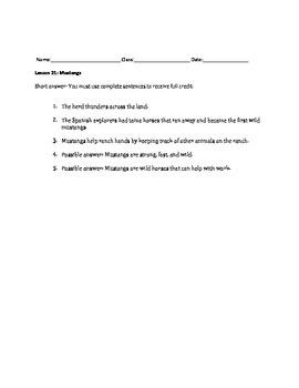 Journeys Decodable Reader Quizzes Unit 5 (Second Grade)