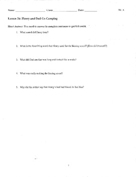 Journeys Decodable Reader Quizzes Unit 6 (First Grade)