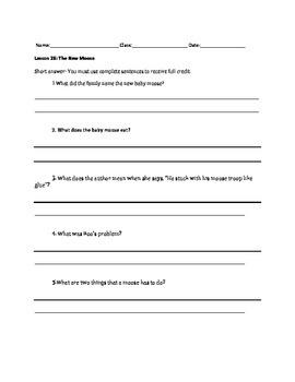 Journeys Decodable Reader Quizzes Unit 6 (Second Grade)