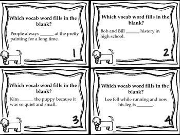 Journeys Dex: The Heart of a Hero Vocabulary, Phonics, and Grammar Task Cards