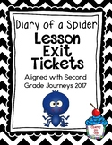 Journeys- Diary of a Spider Exit Tickets