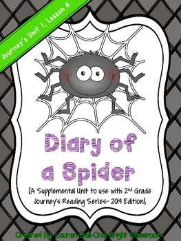 Journeys- Diary of a Spider Supplemental Unit {Unit 1: Lesson 4}