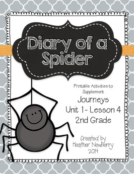 Journeys: Diary of a Spider (Unit 1, Lesson 4)