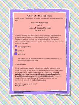 Journeys First Grade Decodable Books FREEBIE!