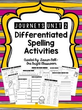 Journeys Differentiated Spelling Activities {UNIT 2}