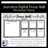 Journeys Digital Focus Wall Template (Farmhouse Theme)