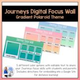 Journeys Digital Focus Wall Template (Gradient Polaroid Theme)