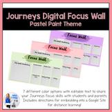 Journeys Digital Focus Wall Template (Pastel Paint Theme)