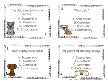 Journeys: Dogs SCOOT Types of Sentences