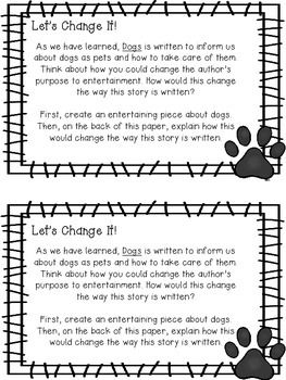 Journeys- Dogs Supplemental Unit {Unit 1: Lesson 3}