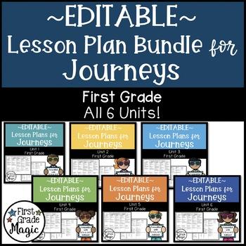 Journeys EDITABLE Lesson Plans First Grade THE BUNDLE!