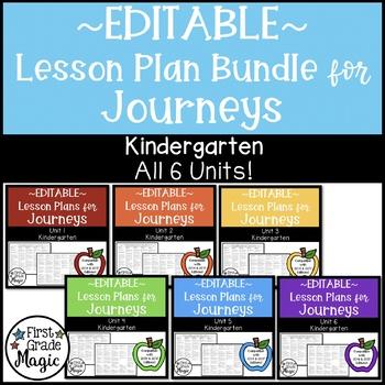 Journeys EDITABLE Lesson Plans Kindergarten THE BUNDLE!