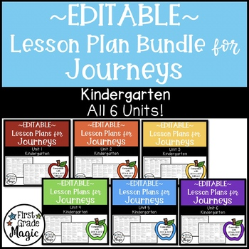 Journeys EDITABLE Lesson Plans Kindergarten THE BUNDLE!