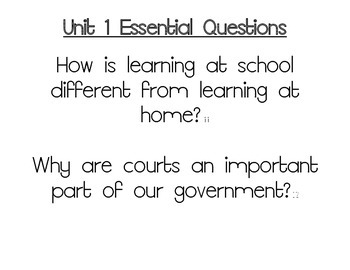 Journeys Essential Questions Bundle, Grade 3 Units 1-6