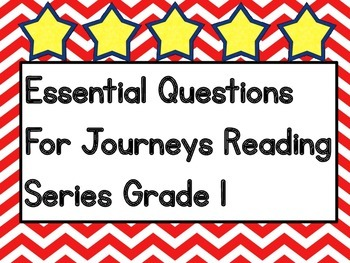Journeys Essential Questions Grade 1