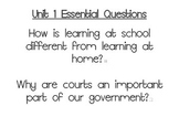 Journeys Essential Questions, Grade 3 Unit 1