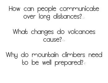 Journeys Essential Questions, Grade 3 Unit 5