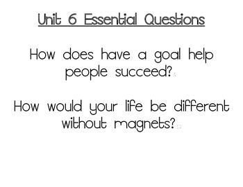 Journeys Essential Questions, Grade 3 Unit 6